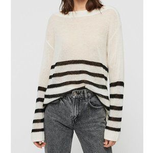 All Saints Lune Boat Neck Wool Sweater XS NEW